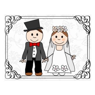 invitación divertida del boda del presupuesto postal