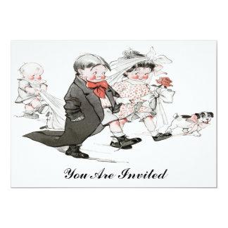 invitación divertida del boda del vintage invitación 12,7 x 17,8 cm