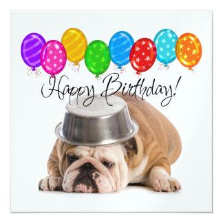 Invitación divertida del cumpleaños del dogo - SRF