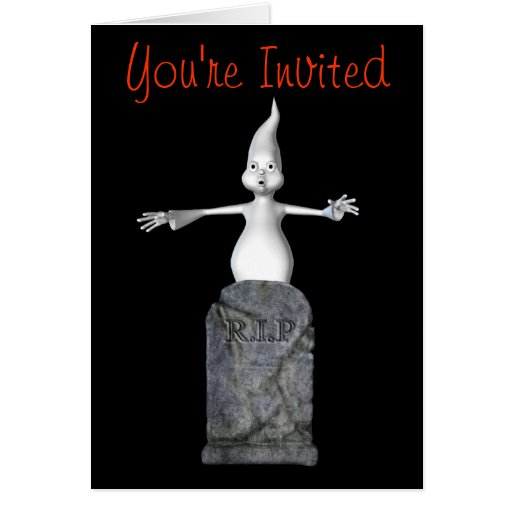 Invitación divertida del fiesta de Halloween de la Felicitacion