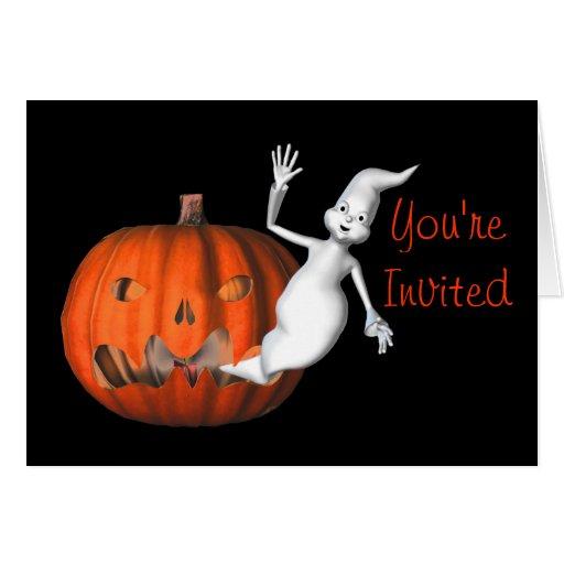 Invitación divertida del fiesta de Halloween de la Felicitaciones