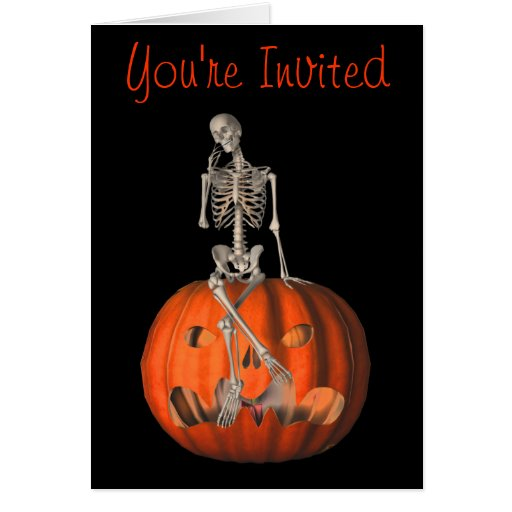 Invitación divertida del fiesta de Halloween de la Felicitación