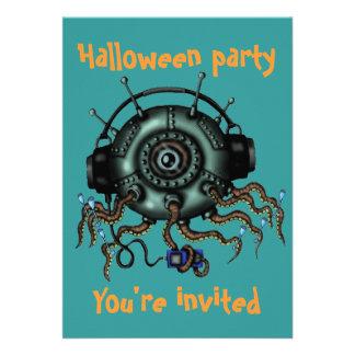 Invitación divertida del fiesta de Halloween del p