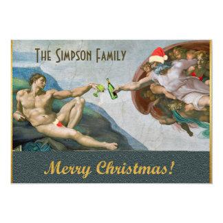 Invitación divertida del navidad de Miguel Ángel Invitación 12,7 X 17,8 Cm