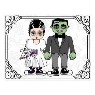 invitación divertida y linda del boda del postal