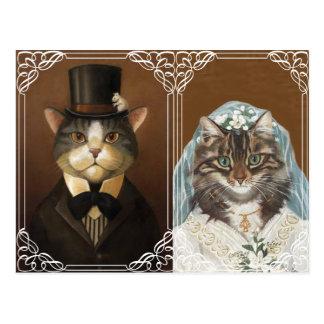 Invitación divertida y linda del boda postal
