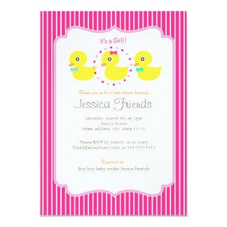 Invitación ducky linda de la fiesta de bienvenida invitación 12,7 x 17,8 cm