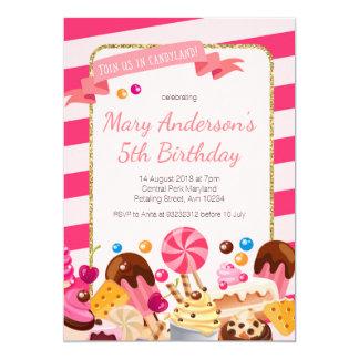 Invitación dulce de la fiesta de cumpleaños de