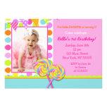Invitación dulce de la fiesta de cumpleaños del Sh