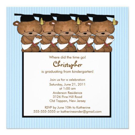Invitación dulce de la graduación de la guardería