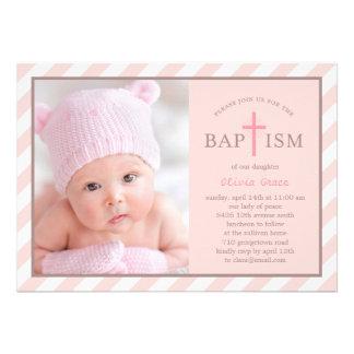 Invitación dulce del bautismo de la foto de las di