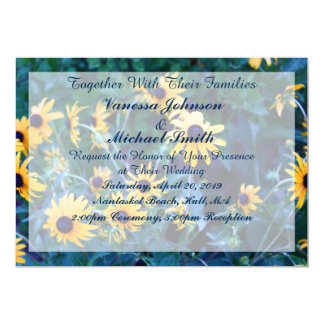 Invitación Editable de la flor amarilla