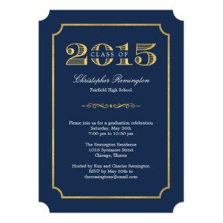 Invitación Editable de la graduación del color del