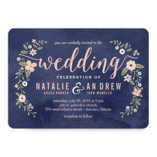 Invitación Editable del boda del color de la