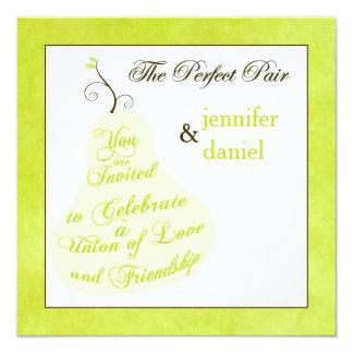 Invitación el | del boda los pares perfectos invitación 13,3 cm x 13,3cm