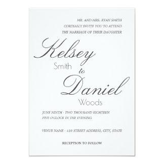 Invitación el | que se casa clásica y romántica