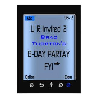 Invitación elegante adolescente de la fiesta de