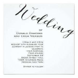 Invitación elegante blanco y negro del boda