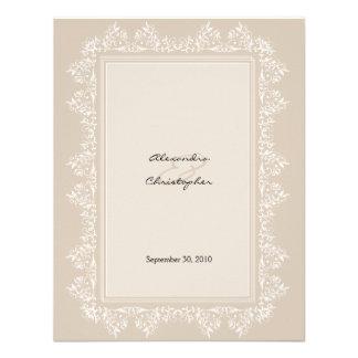 Invitación elegante clásica del boda del damasco