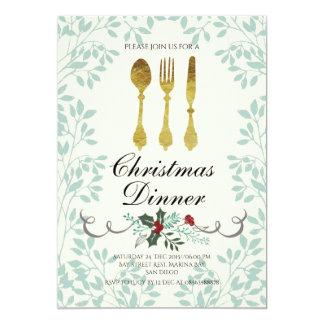 Invitación elegante de la cena de navidad