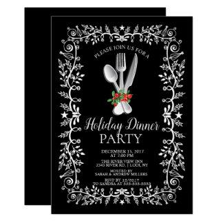 Invitación elegante de la cena de navidad del día