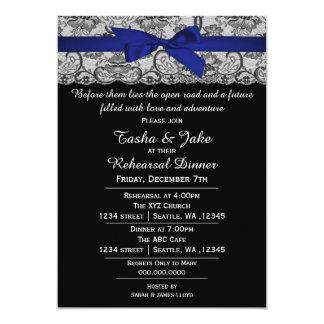 Invitación elegante de la cena del ensayo del invitación 12,7 x 17,8 cm