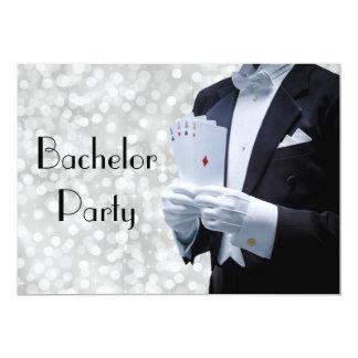 Invitación elegante de la despedida de soltero con invitación 12,7 x 17,8 cm