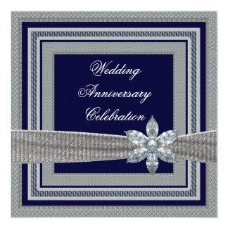 Invitación elegante de la fiesta de aniversario