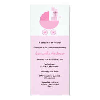 Invitación elegante de la fiesta de bienvenida al invitación 10,1 x 23,5 cm
