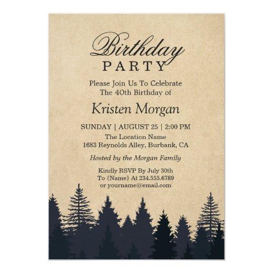 Invitación elegante de la fiesta de cumpleaños de