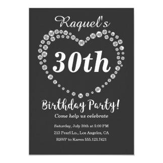 Invitación elegante de la fiesta de cumpleaños del