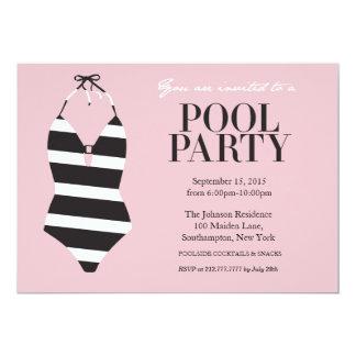 Invitación elegante de la fiesta en la piscina