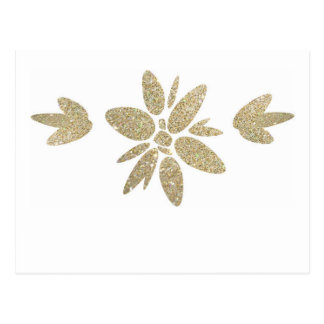Invitación elegante de la flor de la chispa del postal