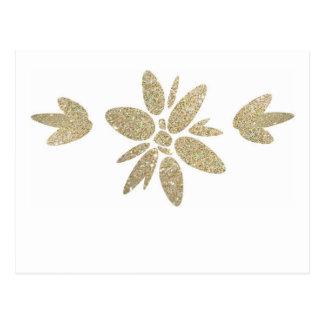 Invitación elegante de la flor de la chispa del postales