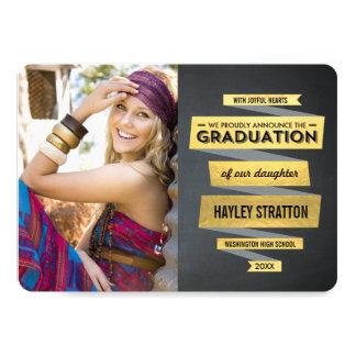 Invitación elegante de la graduación de la cinta