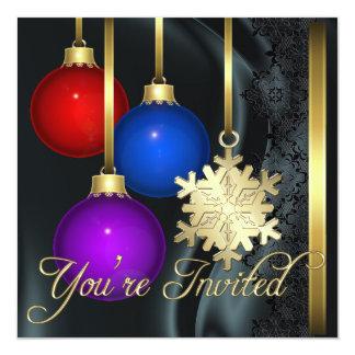 Invitación elegante de seda negra de las invitación 13,3 cm x 13,3cm