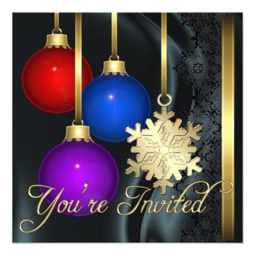 Invitación elegante de seda negra de las decoracio