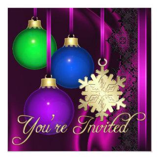 Invitación elegante de seda rosada de las invitación 13,3 cm x 13,3cm