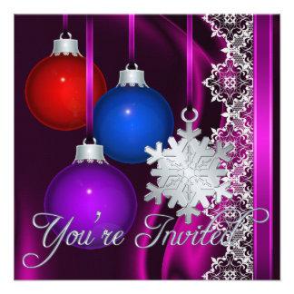 Invitación elegante de seda rosada de las decoraci