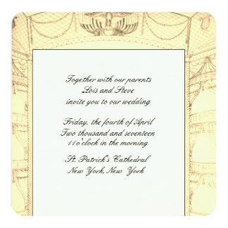 Invitación elegante de Weddng del teatro
