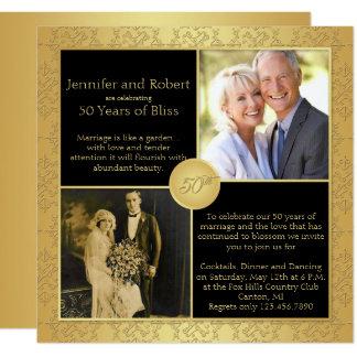 Invitación elegante del aniversario de boda del