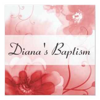 Invitación elegante del bautismo de la flor del