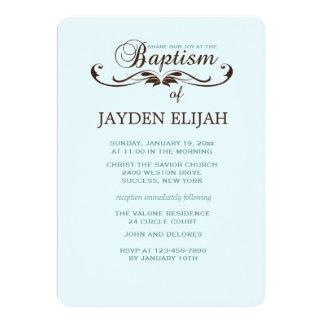 Invitación elegante del bautismo de la fuente