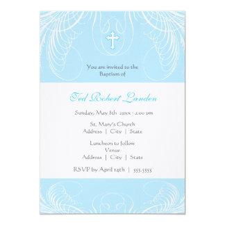 Invitación elegante del bautismo del bebé