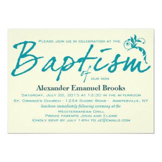 Invitación elegante del bautismo del trullo
