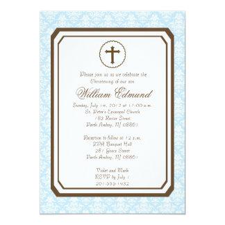 Invitación elegante del bautizo del muchacho -