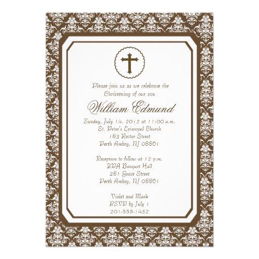 Invitación elegante del bautizo del muchacho - Bro