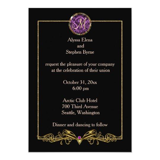 Invitación elegante del boda de Halloween