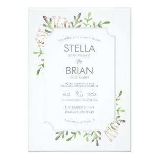 Invitación elegante del boda de la acuarela