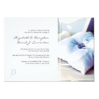 Invitación elegante del boda de la almohada de Rin